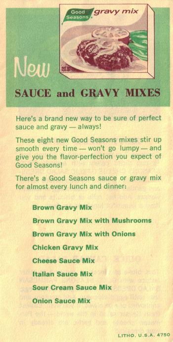 Good Seasons Gravy Mixes