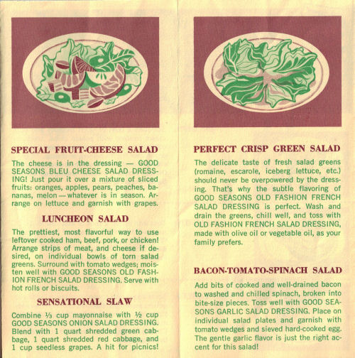 Special Fruit-Cheese Salad, Luncheon Salad, Sensational Slaw & More