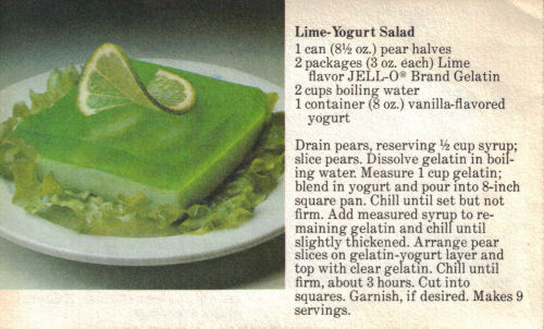 Pear lime jello salad recipes