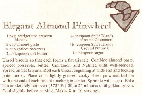 Recipe For Elegant Almond Pinwheel