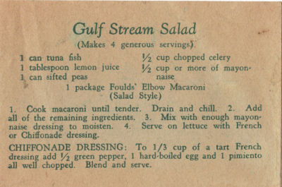 Fould's Vintage Gulf Stream Salad