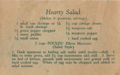Fould's Vintage Hearty Salad Recipe