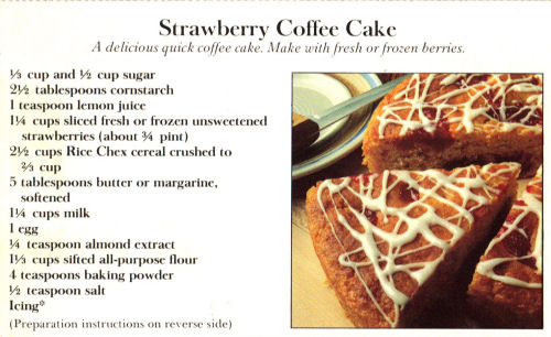 Promo Recipe Card For Strawberry Coffee Cake
