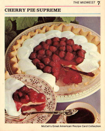 Recipe Card for Cherry Pie Supreme