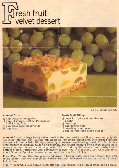 Recipe For Fresh Fruit Velvet Dessert Slice