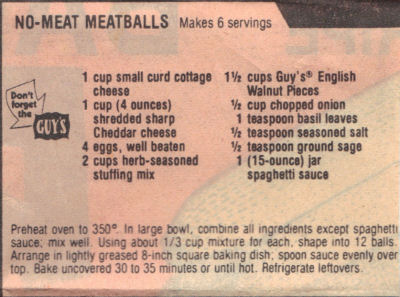 Recipe For No-Meat Meatballs