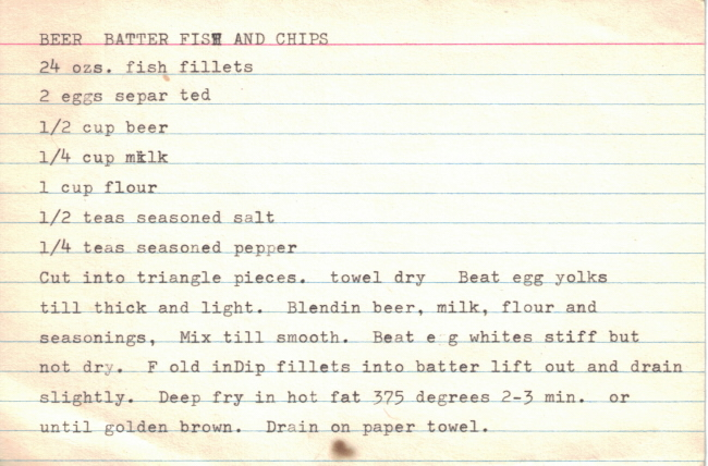 Beer batter fish chips recipe for Fish and chips batter recipe