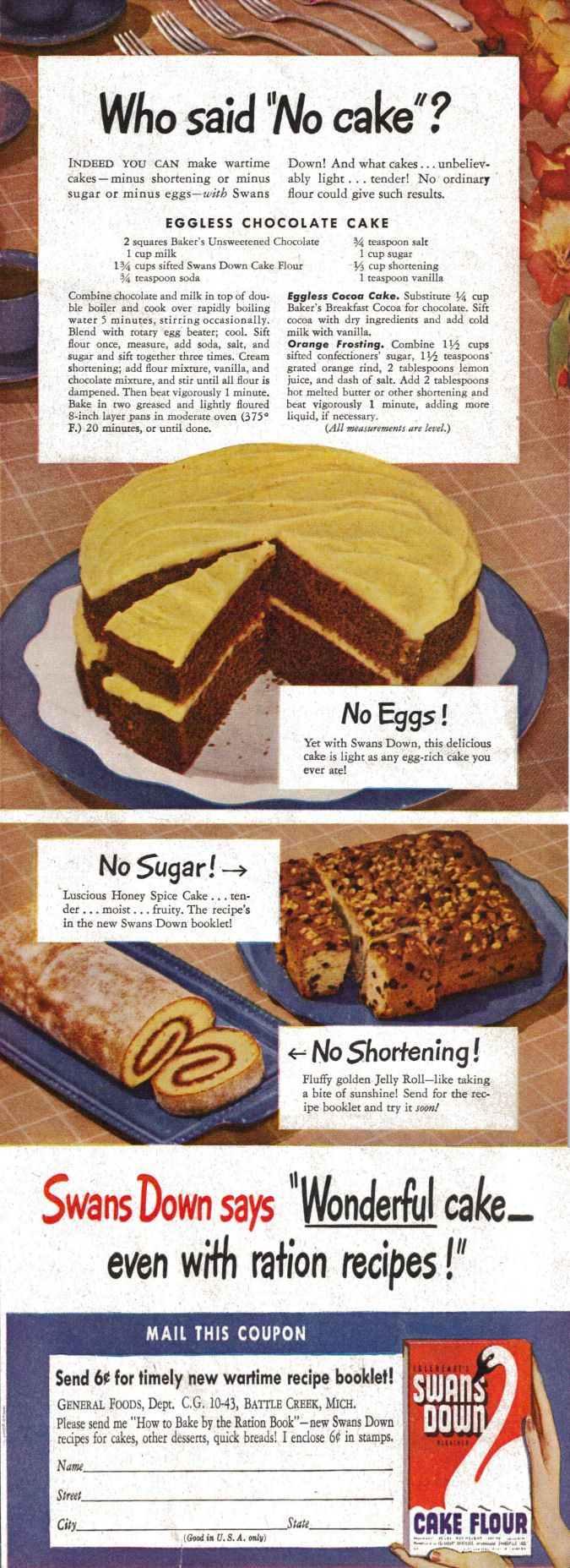 Ration Cakes Recipe