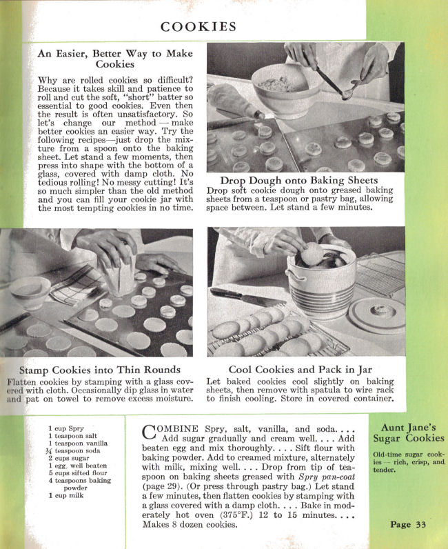 Spry cookie recipes