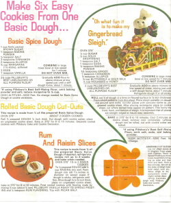 Pillsbury Recipe Sheet Side 1 - Click To View Large