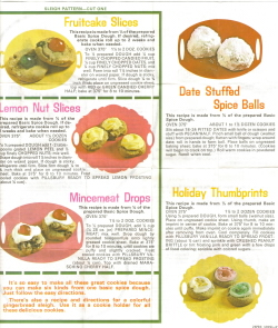 Pillsbury Recipe Sheet Side 2 - Click To View Large
