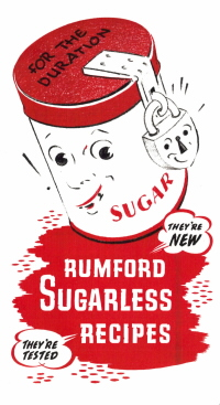 Rumford Sugarless Recipes - Cover  -  Click To View Larger
