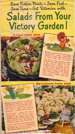 Salads From Your Victory Garden - Click To View Larger