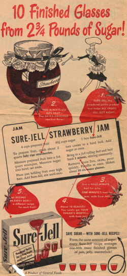Sure-Jell Strawberry Jam Recipe - Click To View Larger