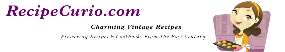 RecipeCurio.com Vintage Recipes