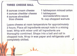 Three Cheese Ball Clipping Picture