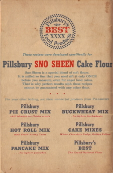 Back Cover - 55 Favorite Ann Pillsbury Cake Recipes - Click To View Larger