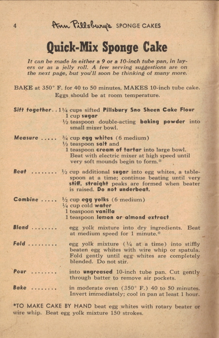 Quick Mix Sponge Cake Vintage 55 Favorite Cake Recipes