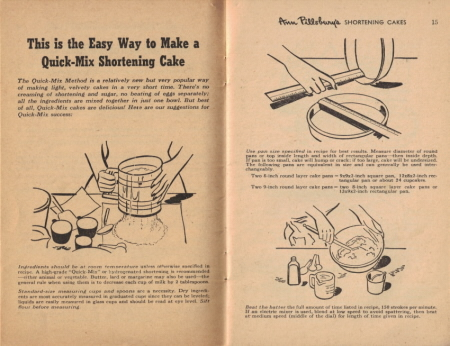 Page 14 & 15 - This is the Easy Way to Make a Quick-Mix Shortening Cake - Click To View Large