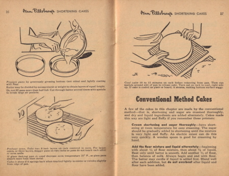 Page 16 & 17 - This is the Easy Way to Make a Quick-Mix Shortening Cake - Click To View Large