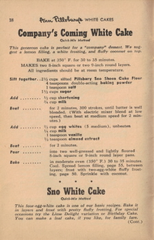 Page 18 - Company's Coming White Cake - Click To View Large
