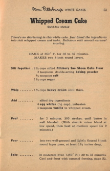 Page 23 - Whipped Cream Cake Recipe - Click To View Larger