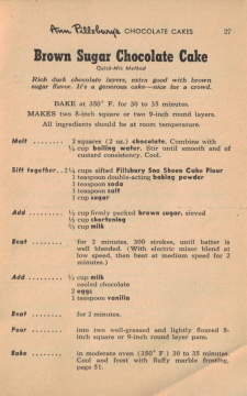 Page 27 - Brown Sugar Chocolate Cake Recipe - Click To View Larger