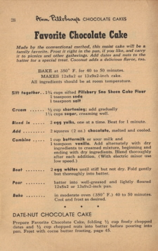 Page 28 - Favorite Chocolate Cake Recipe - Click To View Larger