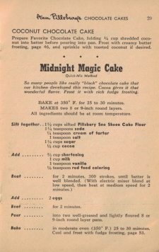 Page 29 - Midnight Magic Cake Recipe - Click To View Larger