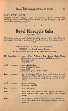 Page 33 - Royal Pineapple Cake Recipe - Click To View Larger