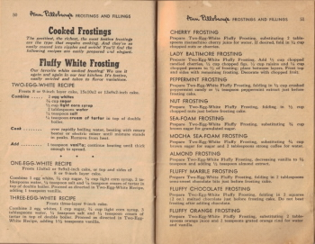 Pages 50 & 51 - Cooked Frosting Recipes - Click To View Larger