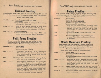 Pages 52 & 53 - Cooked Frosting Recipes - Click To View Larger