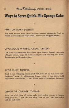Page 6 - Ways To Serve Quick-Mix Sponge Cake - Click To View Large