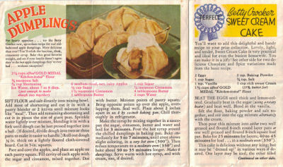Series No. 3 - Vintage Betty Crocker Recipe Sheet - Click To View Larger