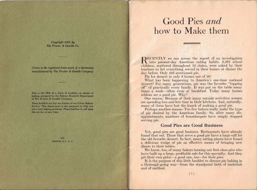 Crisco: Good Pies & How To Make Them
