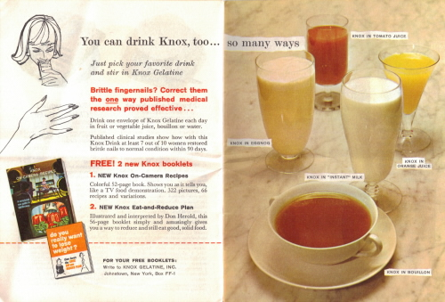 You Can Drink Knox Too - Fabulous Foods That Are Fun To Fix - Knox Gelatine