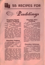 55 Recipes For Hershey's Syrup - Puddings - Click To View Larger