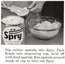 Dip Rubber Spatula Into Spry