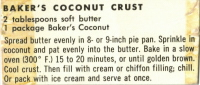 Baker's Coconut Crust Recipe - Recipecurio.com