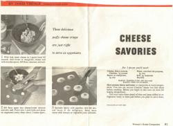 Cheese Savories Sheet