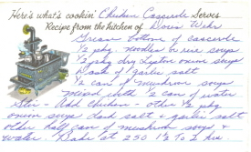 Chicken Casserole Recipe Card - Click To View Larger