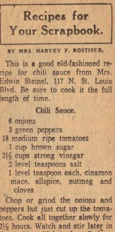 Chili Sauce Recipe Vintage Clipping 171 Recipecurio Com