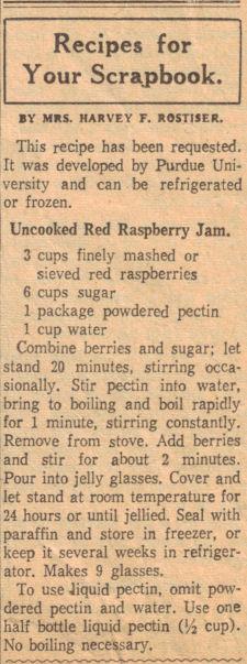 Uncooked Red Raspberry Jam Recipe