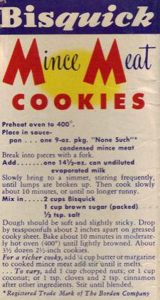 Mince Meat Cookies Recipe