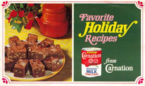 Favorite Holiday Recipes Folder By Carnation
