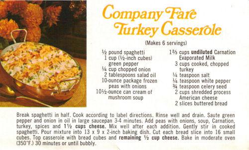 Company Fare Turkey Casserole Recipe
