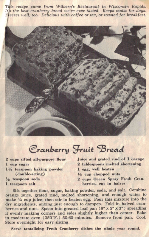 Cranberry Fruit Bread Recipe Page