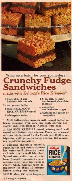 Crunchy Fudge Sandwiches Clipping