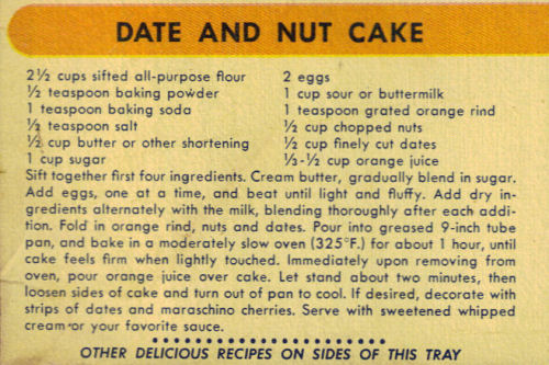Date And Nut Cake Recipe