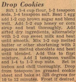 Vintage Drop Cookies Recipe